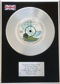 "BRYAN FERRY - 7"" Platinum Disc - A HARD RAIN'S A-GONNA"